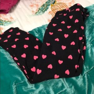 Black pink heart print soft jeans children's place